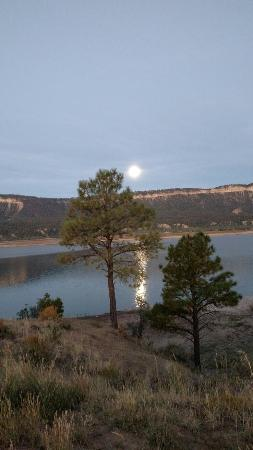 Tierra Amarilla, NM: View from our campsite at El Vado Lake.