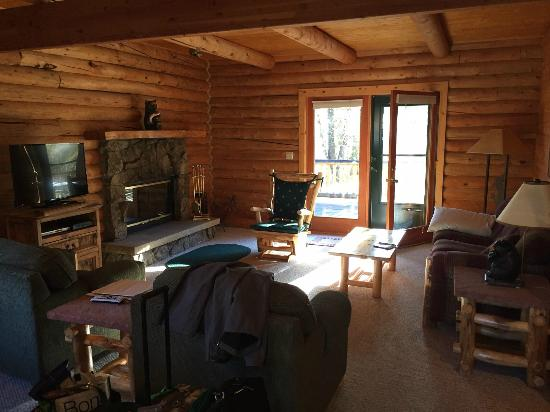 Rockmount Cottages & Cabins: Living Room of Cabin