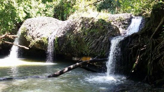 Cambodia: Samlot waterfall