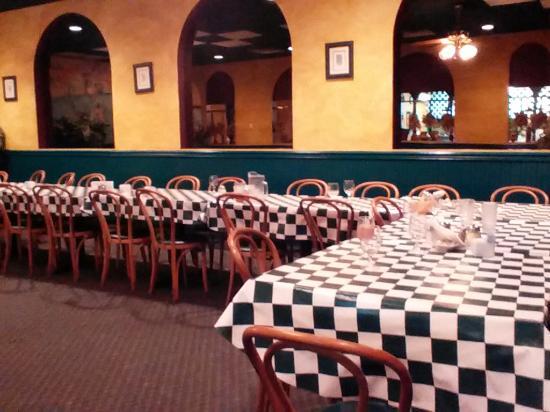 Ninette S Italian Restaurant Room Arranged For Large Party