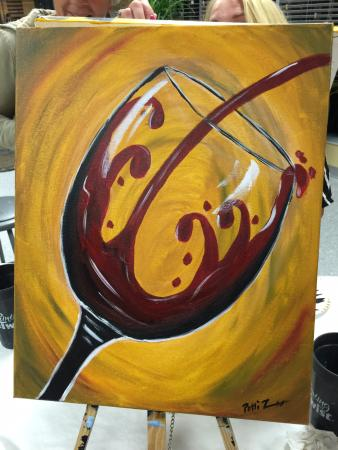 Simple Elegant Painting with a Twist My wine glass painting Top Design - New painting with a twist paintings New Design