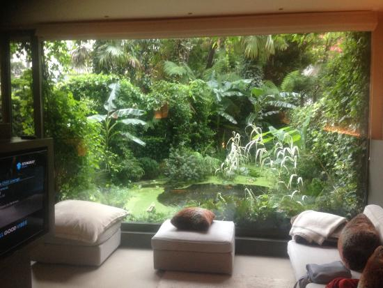Garden Suite: The beautiful view into the tropical garden