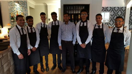 Nannerch, UK: The front of house team at the Indian lounge
