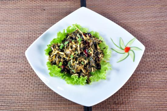 Shanghai Terrace: chinese salted vegetable & bamboo shoots with dry chili