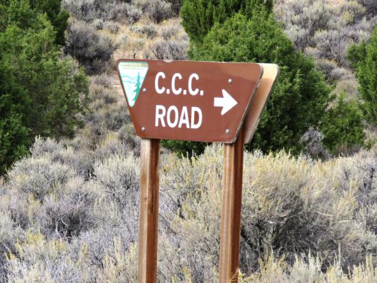 Ruby Valley, NV: CCC Road Sign