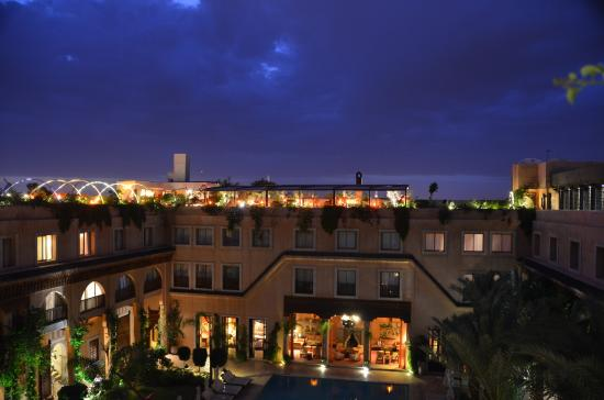 vue de la terrasse picture of les jardins de bala marrakech tripadvisor. Black Bedroom Furniture Sets. Home Design Ideas