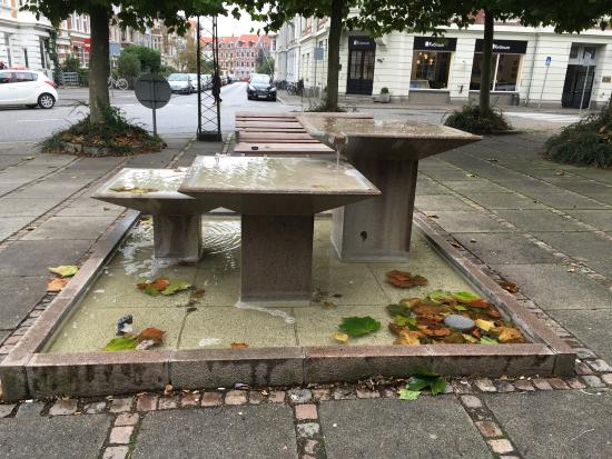 Fountain by Sankt Pauls Kirke