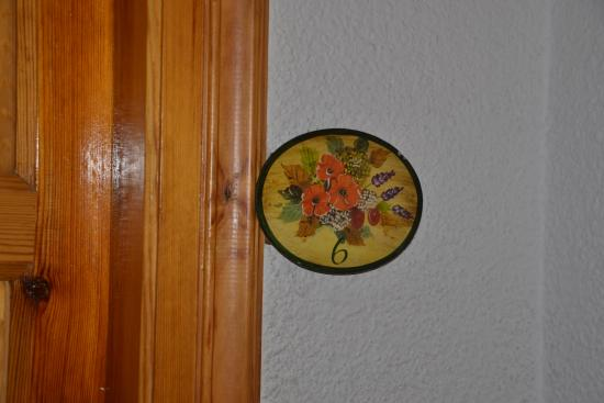 Hotel Esquirol: Número habitación, la 6