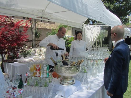 Ponzano Romano, Italy: An exceptional place to visit or holding an event like the wedding shown here.