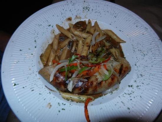 Baileys Harbor, WI: Italian sausage & peppers over penne.