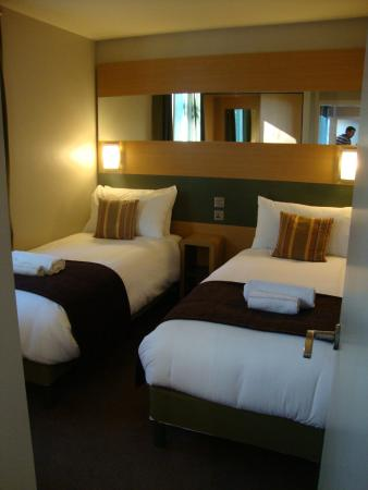 Front of lodge (twin room 1 of 2)