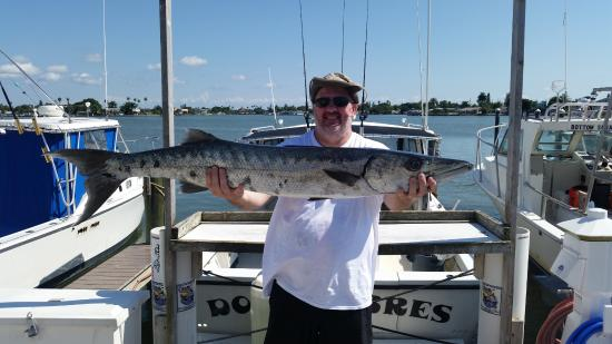 Pretty red picture of dos hombres john 39 s pass fishing for Madeira beach fishing charters