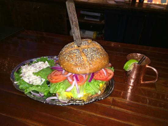 First Amendment Public House: The Mount Rushmore! A 6 lb.  burger...AMAZING...a must have!!! Great food.  Great drinks.  Great