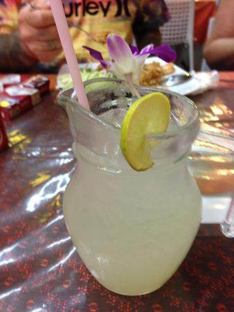 At Phuket Inn: Refreshing lemon juice served in cutest little jug.