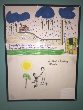 One of the patient's drawings that is displayed at the Trans-Allegheny Lunatic Asylum.