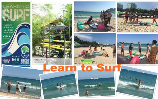Sanya Backpackers: surfing lesson