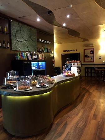 The foyer and cafe at Shoreline cinema Waikanae