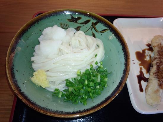 Matsu Seimenjo : しょうゆの並と太刀魚の天ぷら