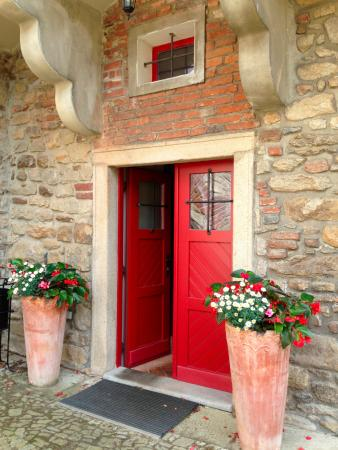 Colorful doors and flowers