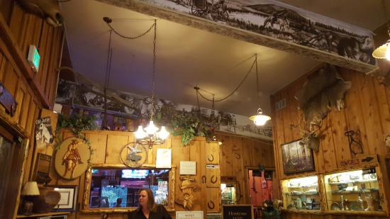 Cowboy Express Steak House : Gotta love all that stuff on the wall