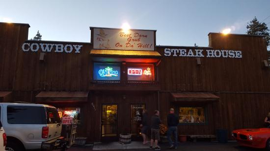 Cowboy Express Steak House : Yep, this is the place for 20 oz. steaks