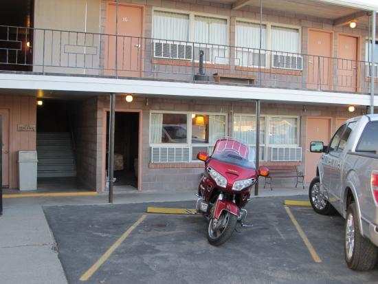 Hardin, MT: Parked in front of my room.