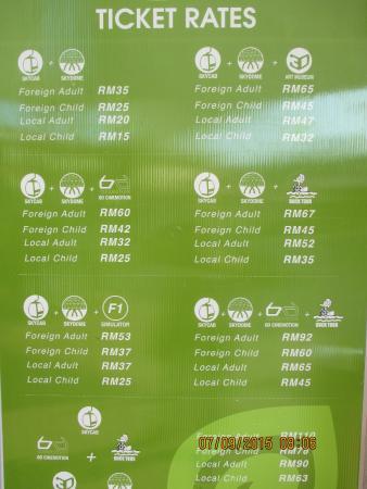 Harga Tiket Cable Car Langkawi