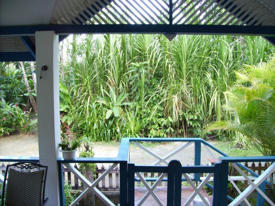 Jemas Guesthouse and Apartments: Aussicht Terrasse Haus
