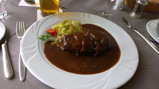 Wald Cafe Hotel: roulade de sanglier