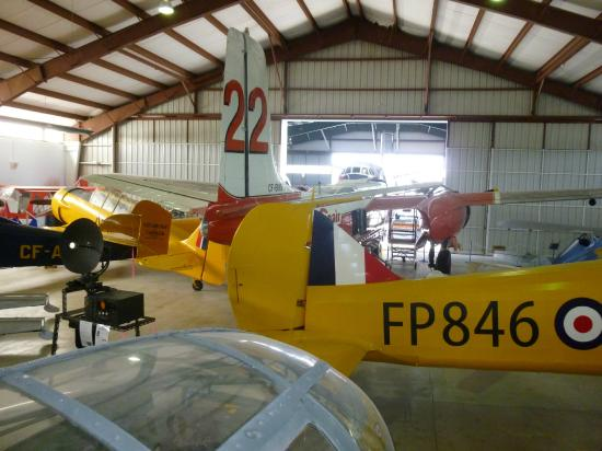 BC Aviation Museum: Inside the museum jhangar