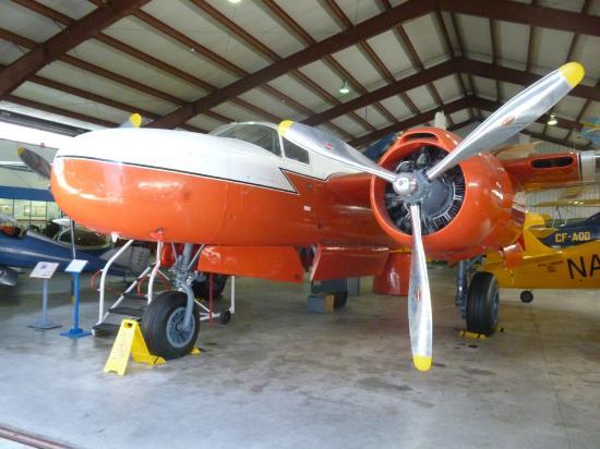 BC Aviation Museum : Inside the museum hangar