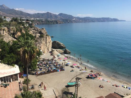 View from our table fotograf a de cafeteria calabella nerja tripadvisor - Restaurante puerta del mar nerja ...