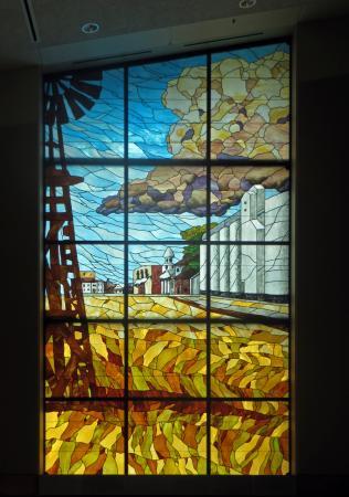 Robert J. Dole Institute of Politics: Russell Window