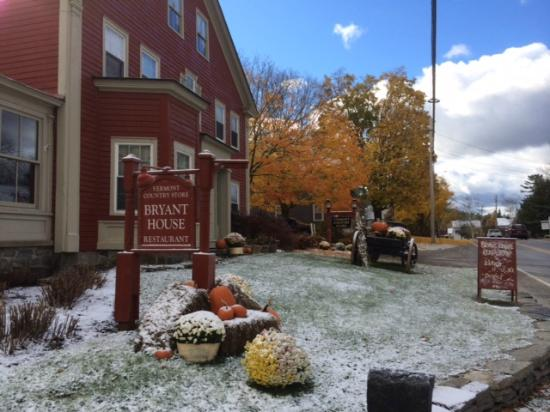 First Snow in Weston at The Bryant House Restaurant