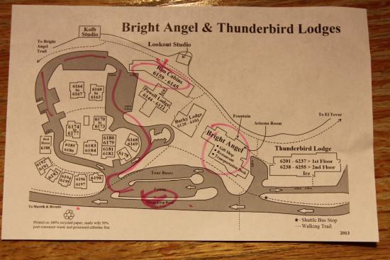 Bright Angel Lodge: Bright Angel Cabin Map