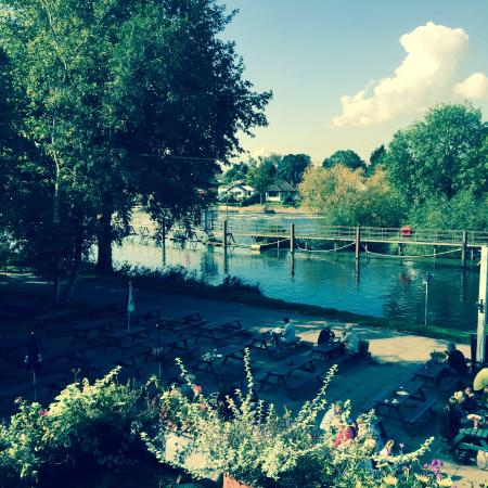 The Weir Hotel : View from our room,