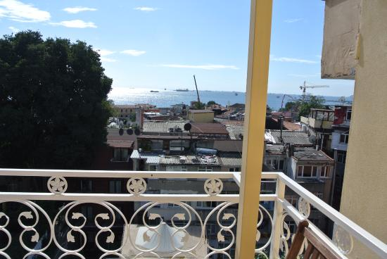 Ada Hotel Istanbul: view from our balcony of the Bosphorus