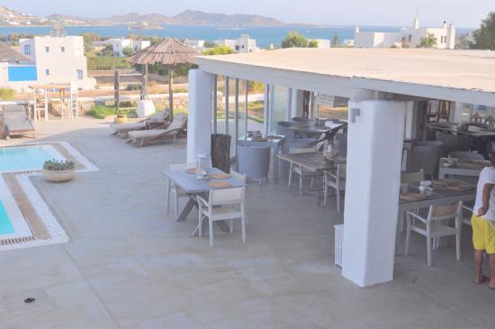 Anemoi Resort: esterno e panorama sul mare egeo