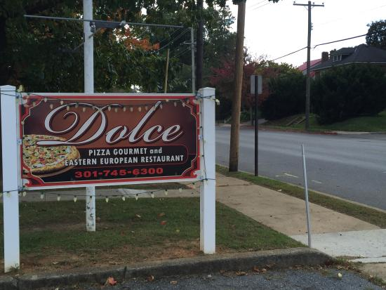 Dolce: View from the street, don't miss it!