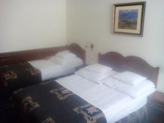 Belvedere Hotel : Doule bed room with extra bed