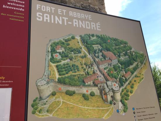 Fort StAndr the map Picture of Fort SaintAndre Villeneuve