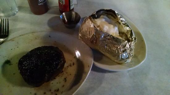 Cannon's ChopHouse: Baseball cut sirloin with massive baked potato!