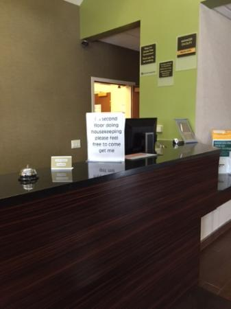 Sleep Inn , Inn & Suites: The front desk at 3pm when check-in opened...