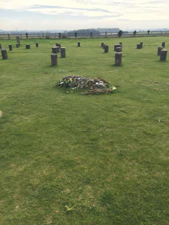 Durrington, UK: Centre of woodhenge (grave marker)