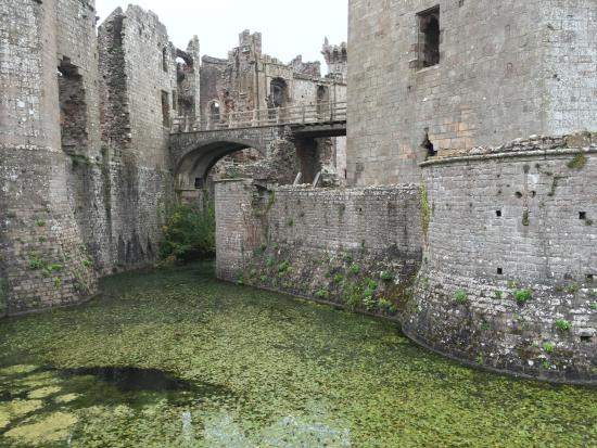 Raglan Castle - Across the moat to the siege tower