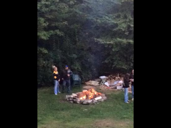 Dover, Βερμόντ: fire pit