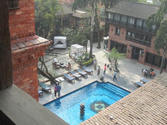 Dwarika's Hotel: Vue de la chambre au Dwarika's Katmandou