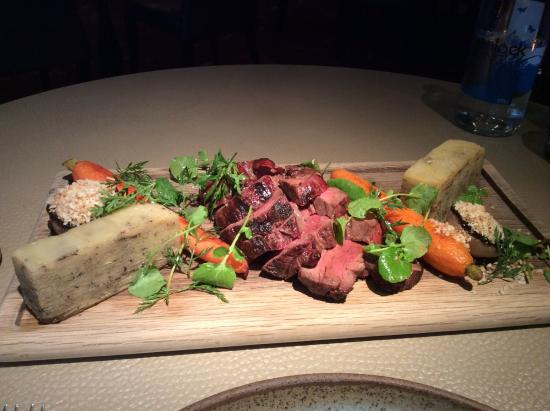 Hampton-in-Arden, UK: Chateaubriant up close..