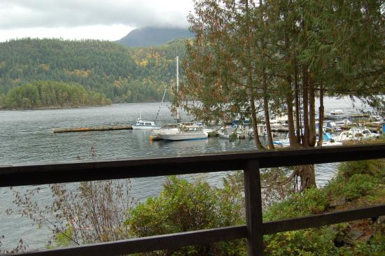 Egmont, Canada: View from Cabin 1 (all cabins have similar view)