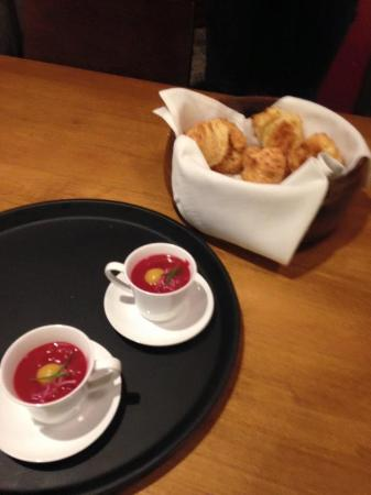 Local Tasting Tours: Beet soup & biscuits at Chives